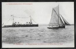 CPA 50 - Cherbourg, Le Croiseur-Cuirassé Léon-Gambetta Et Le Bâteau-pilote Sur Rade - Cherbourg