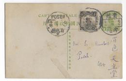 CHINA - 1918 - CARTE ENTIER De TCHI CHOU (?) => POSEH - China