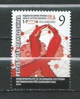 Macedonia - 2018 RED CROSS - FIGHT AGAINST AIDS. MNH - Macedonië