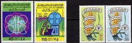 OPEC 1980 Libya 842/3+938/9 ** 6€ Ähre Im Schriftband Pflug Erdöl-Förderung Oilleferung Energy FAO Sets Bf Erdkugel - Agriculture