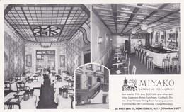 MIYAKO RESTAURANT,NEW YORK OLD POSTCARD (C479) - Bar, Alberghi & Ristoranti