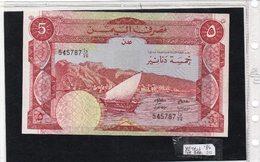 Banconota Yemen  Republic Democratic 5 Dinari - Yémen