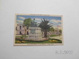 Lima. - Universidad De San Marcos. (18 - 2 - 1954) - Peru