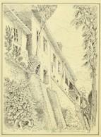 Sólyom Jelzéssel: Házak A Várfalnál. Tus, Papír, üvegezett Keretben, 23×17 Cm - Other Collections