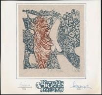 Stettner Béla (1928-1984): Kisgrafika Barátok Köre 1959. Rézkarc, Papír, Jelzett, 16×14 Cm - Ohne Zuordnung