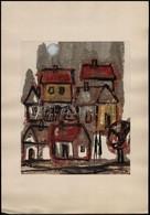 Stotz Mihály (?-?): Alkonyat. Vegyes Technika, Papír, Jelzett, Paszpartuban, 27×22 Cm - Other Collections