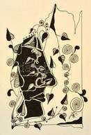 Szász Jelzéssel: Kompozíció. Tus, Papír, üvegezett Keretben, 17×11 Cm - Other Collections