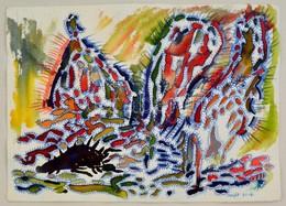 Szeift Béla (1944-2012): Tájkép, Vegyes Technika, Papír, Jelzett, 30×40 Cm - Other Collections