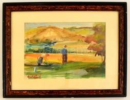 Szekfű János (1910-2004): Szilvásvárad. Akvarell, Papír, Jelzett, üvegezett Keretben, 20×29 Cm - Ohne Zuordnung