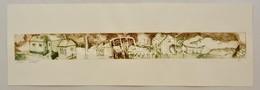 Szl. Jelzéssel: Otthon, Hidegtű, Papír, Jelzett, 5×44,5 Cm - Ohne Zuordnung