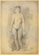Szőnyi Jelzéssel: Női Akt. Szén, Papír, 45×30 Cm - Ohne Zuordnung