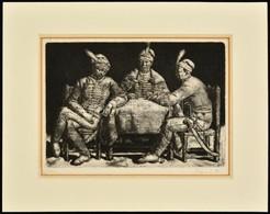 Tarjáni Simkovics Jenő (1895-1995): Magyar Urak, Rézkarc, Papír, Jelzett, Számozott (3/30), Paszpartuban, 19,5×27 Cm - Other Collections