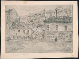 Tikáts Adolf (1872-?): A Rácz Fürdő 1905-ben. Rézkarc, Papír. Jelzett A Dúcon.  24x18 Cm - Ohne Zuordnung