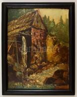Tóth Jelzéssel: Vízimalom. Olaj, Karton, Keretben, 31×24 Cm - Ohne Zuordnung