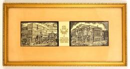 Varga Mátyás (1910-2002): 175 éves A Magyar Színjátszás. Fametszet, Jelzett A Metszeten, üvegezett Keretben, 66×18 Cm - Ohne Zuordnung