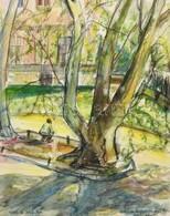 Vehovszkyné Szakál Rózsa (?-): Üllői úti Klinika. Akvarell, Papír, Jelzett, üvegezett Keretben, 39×31 Cm - Other Collections