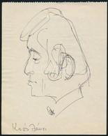 Vincze Lajos (1914-2002): Koós János Karikatúra. Toll, Papír, Jelzés Nélkül, 18×14 Cm - Other Collections