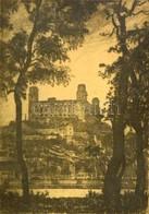 Zádor István (1882-1963): Pozsony. Rézkarc, Papír, Jelzett, üvegezett Keretben, 23×17 Cm - Other Collections