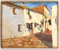Zsolt Jelzéssel: Badalona 1929. Olaj, Vászon, 40×50 Cm - Other Collections