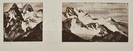 Olvashatatlan Jelzéssel: Kaukázus (Kazbek/Stepantsminda), Lágyalap, Papír, Jelzett, Paszpartuban, 21,5×50 Cm - Ohne Zuordnung