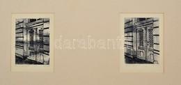 Olvashatatlan Jelzéssel: Pest II-III., 2 Db Rézkarc, Papír, Paszpartuban, 14,5×11,5 Cm - Ohne Zuordnung
