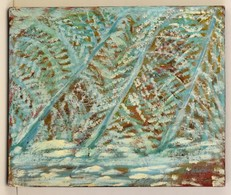 Olvashatatlan Jelzéssel: Rianások. Olaj, Farost, 50×60 Cm - Ohne Zuordnung