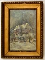 Olvashatatlan Jelzéssel: Etetés A Hidegben. Olaj, Vászon-karton, 28×19 Cm - Other Collections