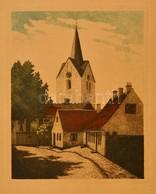 Olvashatatlan Jelzéssel: Torony. Színezett Rézkarc, Papír, 26×21 Cm - Other Collections