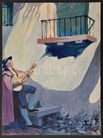 Jelzés Nélkül: Szerenád, Akvarell, Papír, 31×23,5 Cm - Other Collections