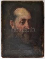 Cca 1800 Jelzés Nélkül: Férfi Portré. Olaj, Vászon, Festék Kopásokkal, 24,5×18,5 Cm - Other Collections