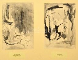 Jelzés Nélkül: 2 Db Matsuo Basho-haiku Illusztráció, Vegyes Technika, Papír, Paszpartuban, 30×20 Cm - Other Collections
