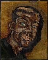 Jelzés Nélkül: Férfi Portré, Olaj, Papír, 34×26,5 Cm - Other Collections