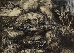 Jelzés Nélkül: Férfi és Női Akt.  Rézkarc, Papír, 26×18 Cm - Ohne Zuordnung