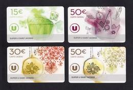 4  Carte Cadeau  SUPER U  SAINT AIGNAN (41).    Gift Card. Geschenkkarte - Gift Cards