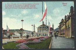 +++ CPA - GENT - GAND - Exposition 1913 - Cour D'Honneur Avec Sections Anglaise Et Française // - Gent