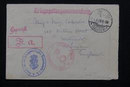 ROYAUME UNI - Enveloppe D'un Prisonnier En Allemagne Pour Londres En 1916 - L 21273 - Marcofilie