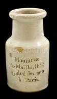 Cca 1900 Antik Maille Mustáros Palack, Mázas Kerámia, Sérült, 'Moutarde De Maille, R.S. André De Arts á Paris' Feliratta - Ceramics & Pottery