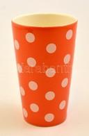 Pöttyös Kerámia Váza, Jelzés Nélkül, Hibátlan, M: 18 Cm - Ceramics & Pottery
