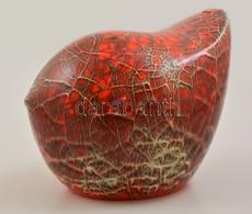 Karsay Judit (1945-): Birdy Kerámia, Sérült, Mázas Festett, M:17 Cm - Ceramics & Pottery