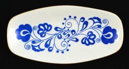 Zsolnay Kis Kék Tálka, Matricás, Jelzett, Kis Kopásokkal, 18×9 Cm - Ceramics & Pottery
