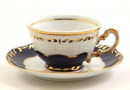 Zsolnay Pompadour Teás Csésze és Alj, Kézzel Festett, Jelzett, Hibátlan - Ceramics & Pottery
