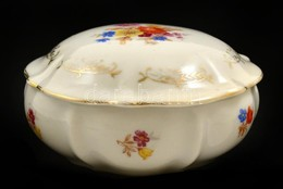 Drasche Bonbonier, Matricás, Jelzett, Kopásokkal, D: 10,5 Cm - Ceramics & Pottery