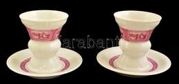 2 Asbach Porcelán Kupa és Tányér 11 Cm, D: 16 Cm. Matricás, Jelzett, Hibátlan - Ceramics & Pottery