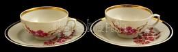Dulevo Szovjet Porcelán Csésze Alátéttel, 2 Db, Jelzett, Kissé Kopott, D: 10 Cm és 17 Cm - Ceramics & Pottery