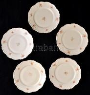 Edelstein 5 Db Lapostányér, Matricás, Jelzett, Kopott, D:25 Cm (5×) - Ceramics & Pottery