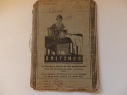 Cahier Scolaire De Chimie De Cours élémentaire 1ére An. En 1936-37 Appartenant à Jacques Blanc Ecole De Palaiseau 91. - Diploma & School Reports