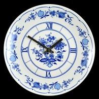 Ilmenau Falióra, Matricás, Jelzett, Müködik (elem Nélkül), Hibátlan, D: 23 Cm - Ceramics & Pottery