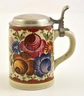 Tirschenreuth ón Fedeles Korsó, Kézzel Festett, Jelzett, Apró Kopás Nyomokkal, M: 15,5 Cm - Ceramics & Pottery
