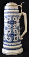 Német Porcelán Sörös Korsó, Hibátlan, Jelzett, M: 36,5 Cm - Céramiques