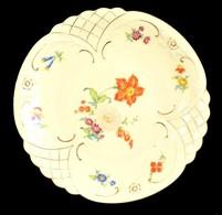 Jelzett Virágos Tál, Matricás, Kopott, D: 30 - Ceramics & Pottery